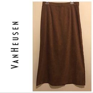 Van Heusen Brown A-Line Skirt Size 12